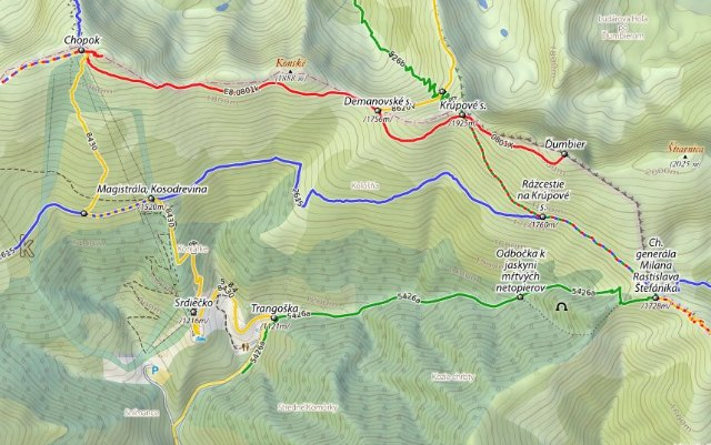 Trail Map in Nizke Tatry of Slovakia - Almost Bananas