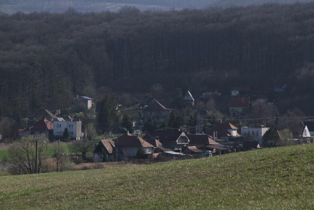 Losonec, Slovakia, tucked into the hills