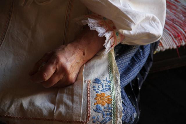 Slovak woman's hand