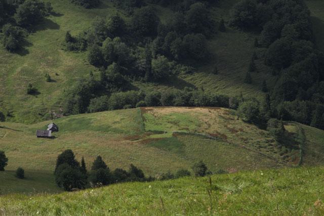 Shepherd huts as seen from Ploska