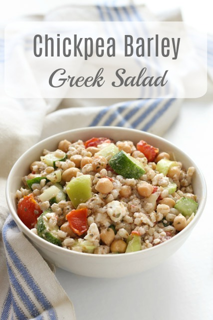 Chickpea and Barley Greek Salad recipe