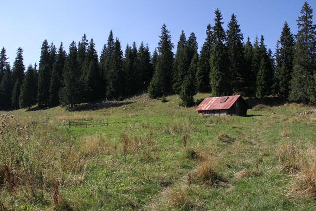 Hotel Choč - an unused shepherd hut.