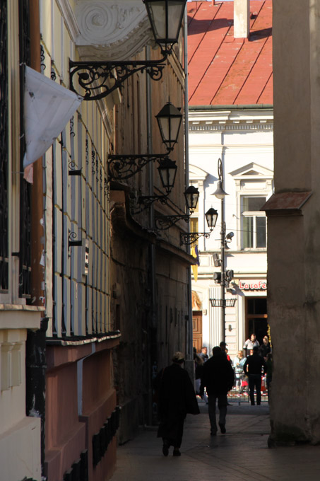 A side street in Kosice, Slovakia