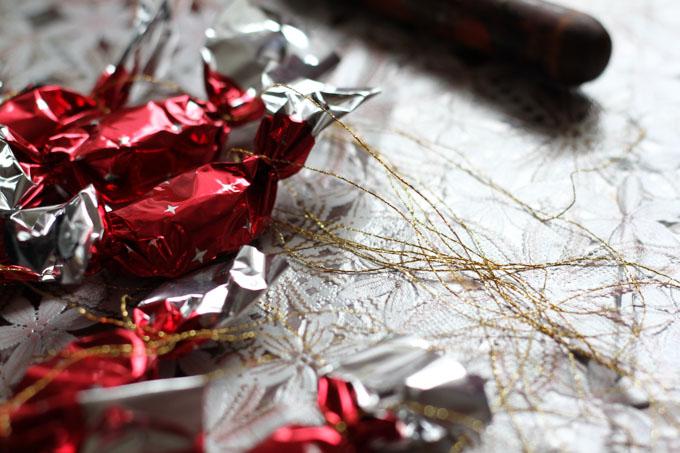 Salonky, a Slovak sweet hung on Christmas trees