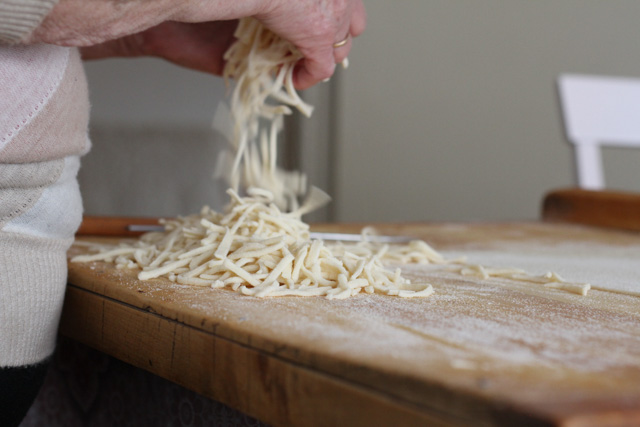 How to make slize, Slovak noodles, which are often eaten sweet, like with farmers cheese, poppy seed, or nuts.