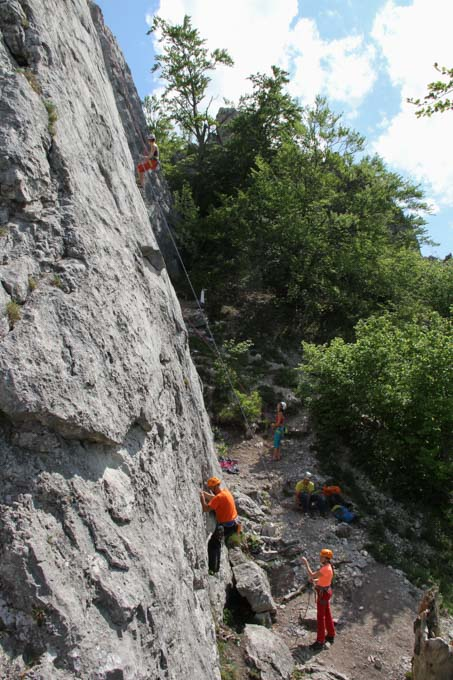 Climbing at Krselnica