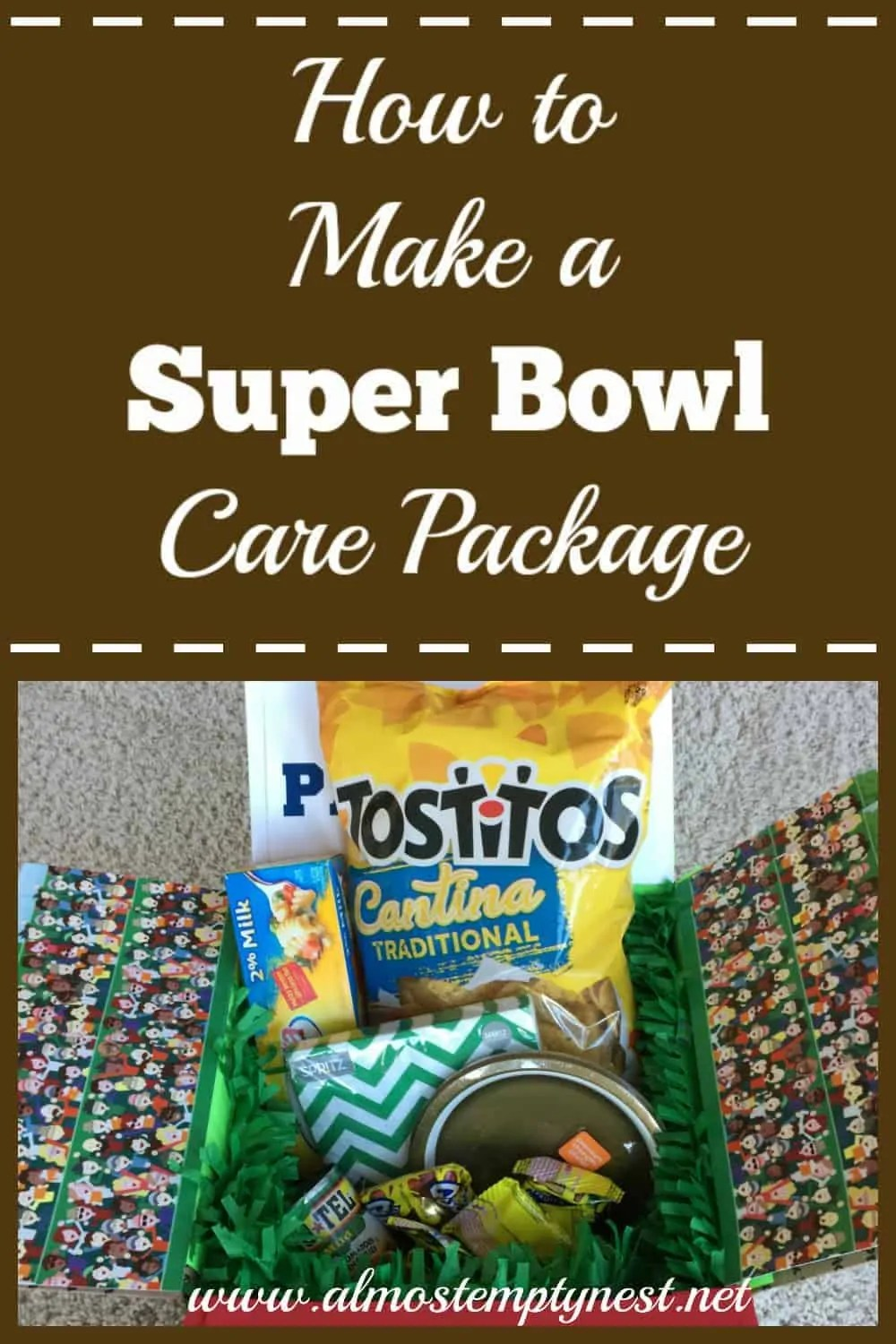 How to make a super bowl care package