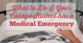 What to do if your College Student has a Medical Emergency