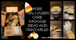More Halloween Care Package Ideas and Printables