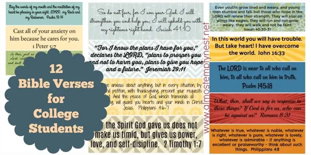 12 Bible Verses for College Students