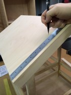 """The first mark is 2–1/2"""" from the bottom of the roof edge and then 1"""" increments to the top of the roof."""