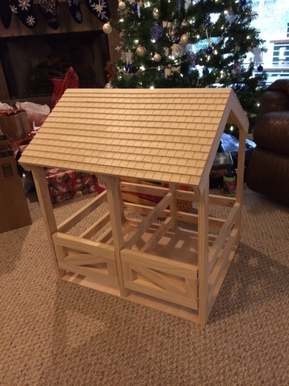 The finished stable.