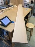4/4 quarter sawn white oak stock I'm using for this frame.