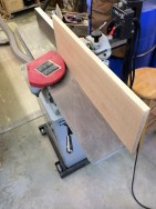 The edges go throughout the jointer to square them up for sawing.