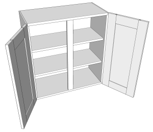 Goat Ranch 2-Door Wall Cabinet