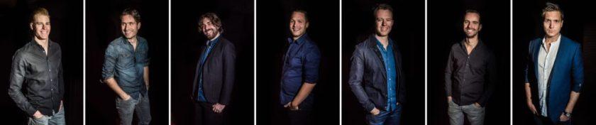 Van links naar rechts: Wim, Ruud, Tom, Sam, Sebastian, Laurens, Robert