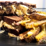 Mushroom Reubens with Homemade Vegan 1000 Island Dressing