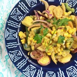Elotes Corn Salad with Smoky Avocado Ranch