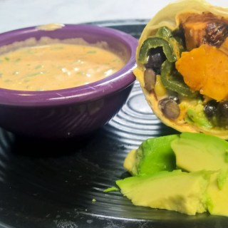 Sweet Potato Black Bean Wraps with Roasted Poblano Peppers