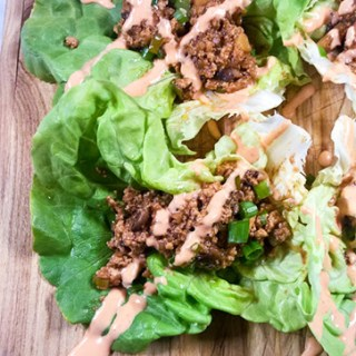 Ground Tofu Lettuce Wraps (Almost Like P.F. Changs)