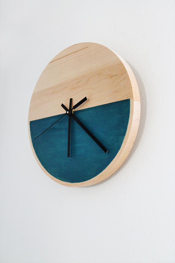 color block clock by almost makes perfect