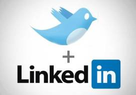 twitter linkedin logos - Connecting Twitter to LinkedIn: Just Say No