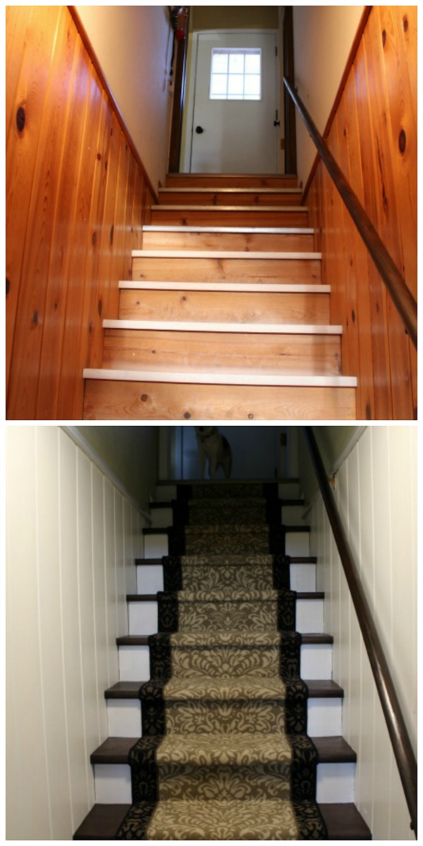 Basement Stairs Collage. Full Disclosure, My Hubby Didnu0027t Think The Veneer  Idea Would Work When I First Threw Out The Idea. Fast Forward To Now, ...
