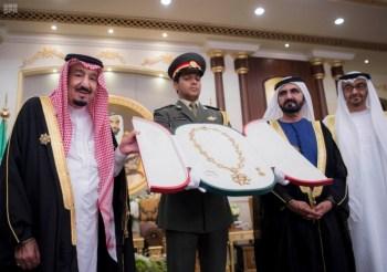 الملك يشرف مأدبة العشاء في الامارات12