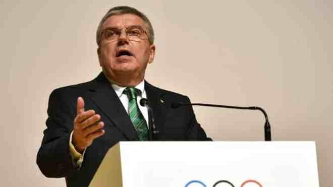 رئيس اللجنة الأولمبية توماس باخ