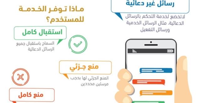 طريقة الغاء خدمة حجب الرسائل الاعلانية