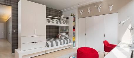 غرف نوم طابقين للأولاد المرسال