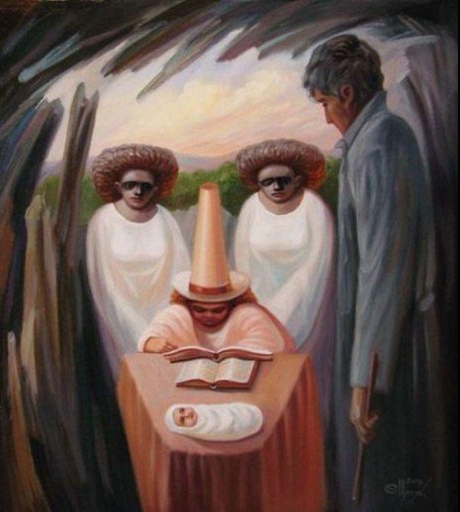 لوحات فنية غريبة