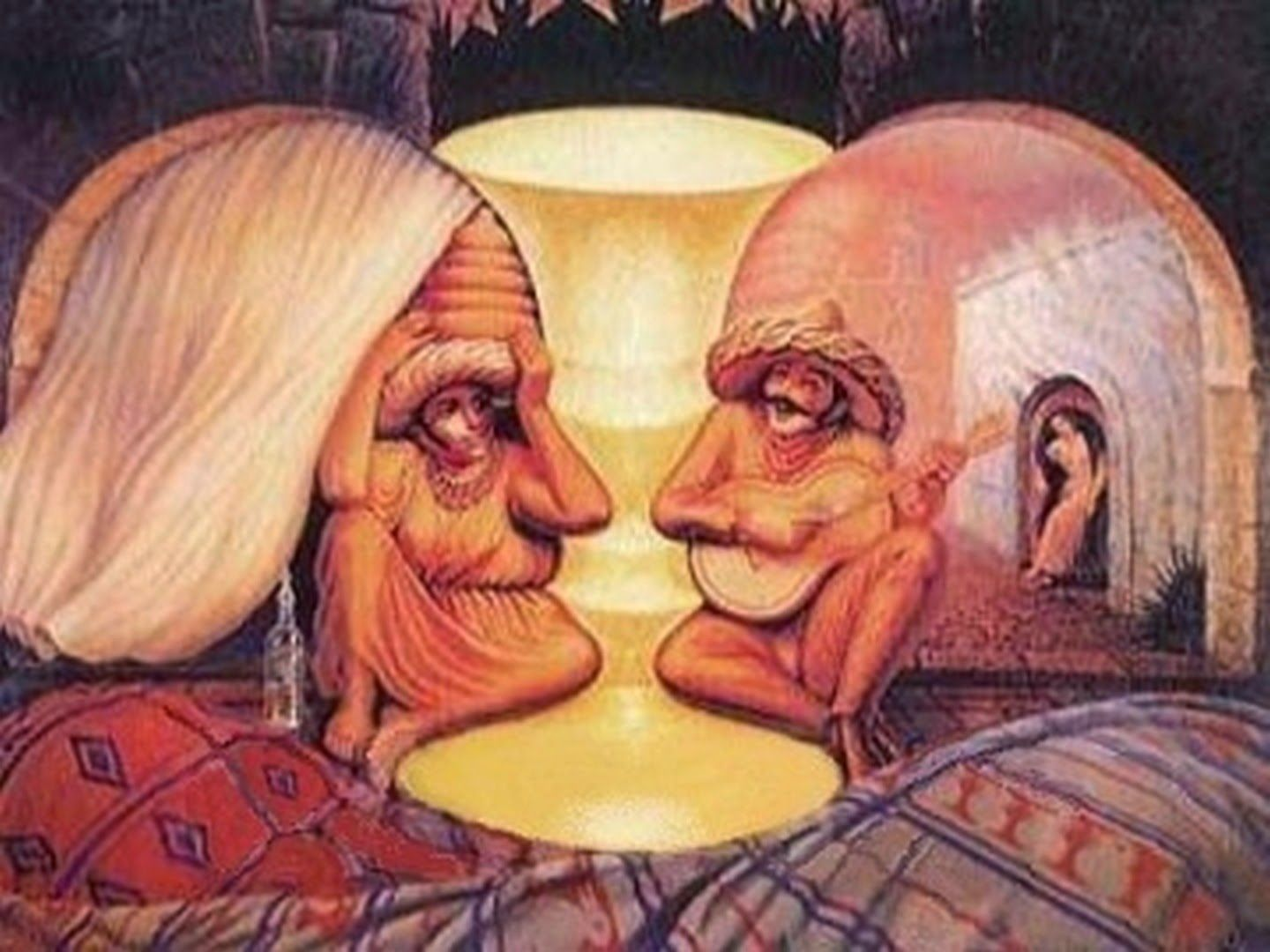 Old Couple Or Musician 1930 Salvador Dali