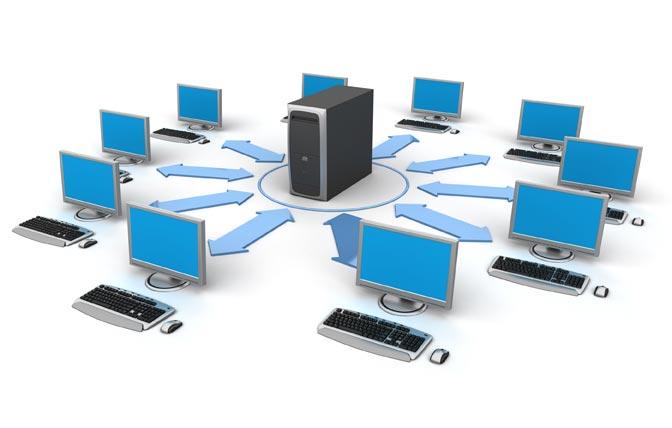 كيفية عمل شبكة لربط أجهزة الحاسوب المرسال
