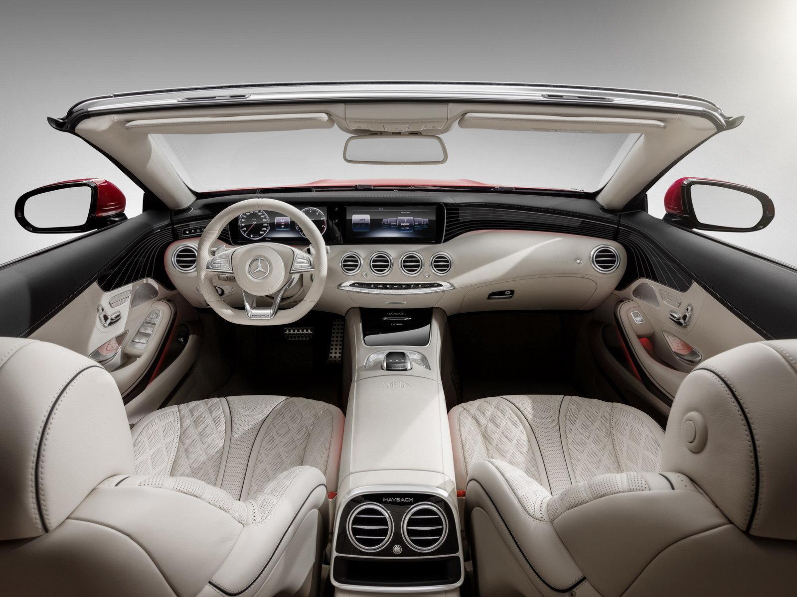 التصميم الداخل الفاخر و الانيق للسيارة مرسيدس مايباخ S650 2018 المكشوفة