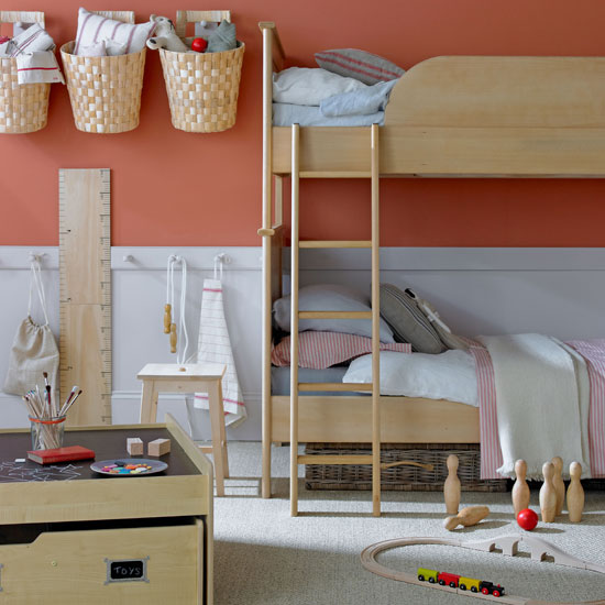 غرف نوم اطفال بسريرين للمساحات الصغيرة المرسال