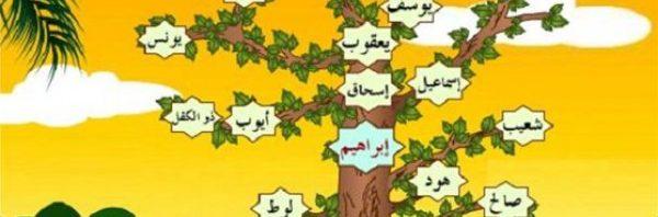شجرة الانبياء والرسل كاملة المرسال