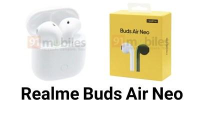 تسريب صور سماعة Realme Buds Air Neo الأذن الاسلكية ! شحنها يدوم لمدة 17 ساعة متواصلة !