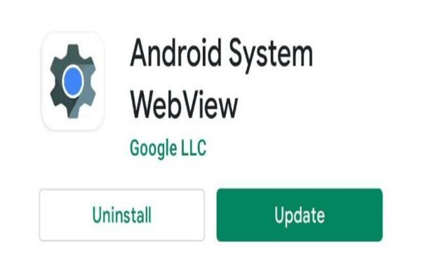 تحديث تطبيق Android System Webview