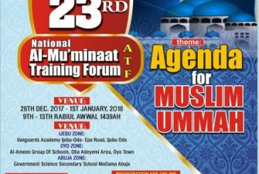 23RD National Al-Mu'minaat Training Forum (ATF), Theme: Agenda for MUSLIM