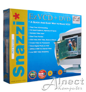 Video Editing Card PCI Snazzi* Ez VCD + DVD