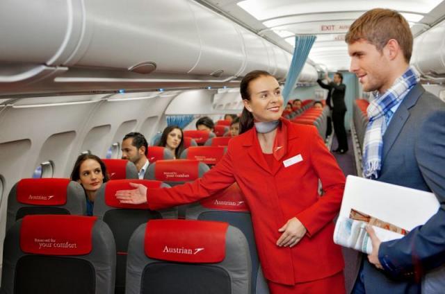 التعامل على متن الطائرة