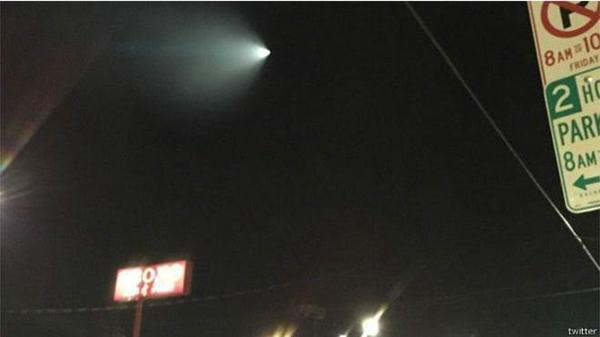 ضوء غامض في السماء يثير الرعب في كاليفورنيا