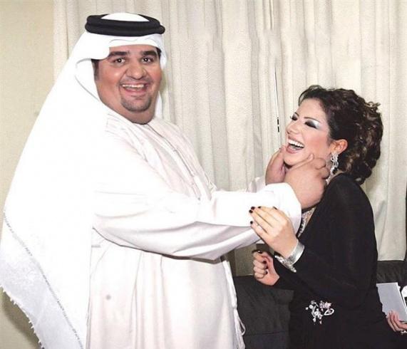صورة نادرة تجمع حسين الجسمي وحليمة بولند قبل التجميل