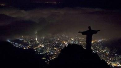 Photo of تمثال المسيح ريودي جانيرو – لقطة مأخوذة ليلة يوم الأرض