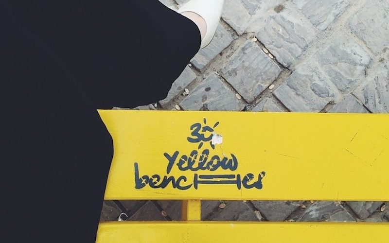 Yellow Benches @haja__