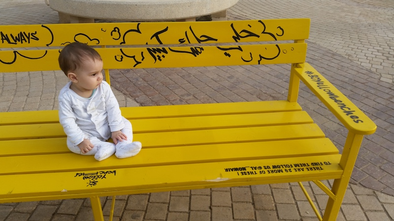 Yellow Benches image