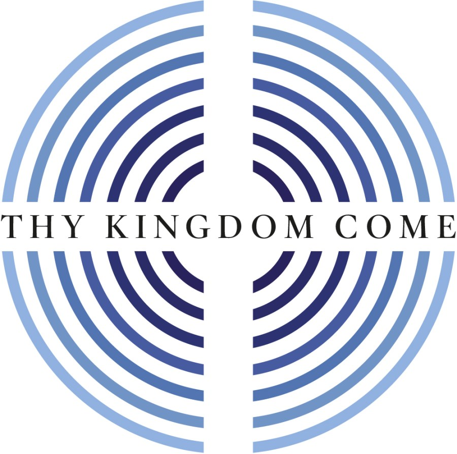 """A maze image with the text """"Thy Kingdom Come"""""""