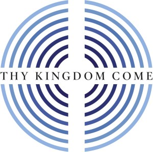 "A maze image with the text ""Thy Kingdom Come"""