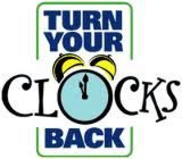 Graphic saying Turn your clocks back